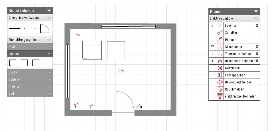 grundriss elektroinstallation liefner haustechnik gmbh. Black Bedroom Furniture Sets. Home Design Ideas